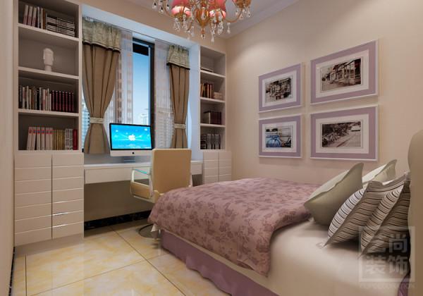 盛润锦绣城二期三室两厅116平方卧室参考设计。