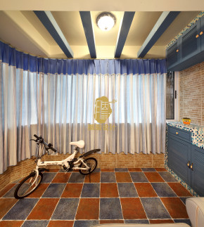 胭脂设计 胭脂赖 地中海风格 婚房 旧房改造 二居 蓝白黄搭配 温馨 阳台图片来自设计师胭脂在幸福猪浪漫地中海婚房的分享