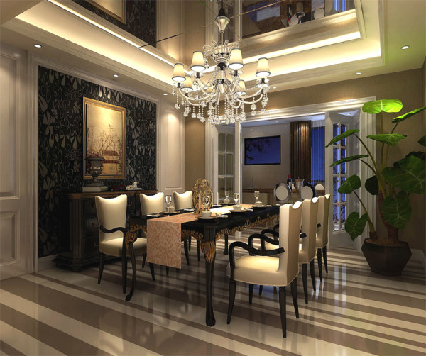 欧式餐厅设计说明最后也是最重要的一点,则是关于我们整个餐厅的餐具、餐桌与装饰,要知道一个好的装饰可以在很大程度上弥补设计中的不足之处。