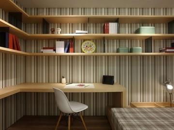 书房巧设榻榻米床与创意书架