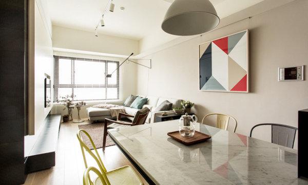 现代简约 新房装修 旧房改造 客厅图片来自周海真在现代简约风格三居室质朴温馨居的分享