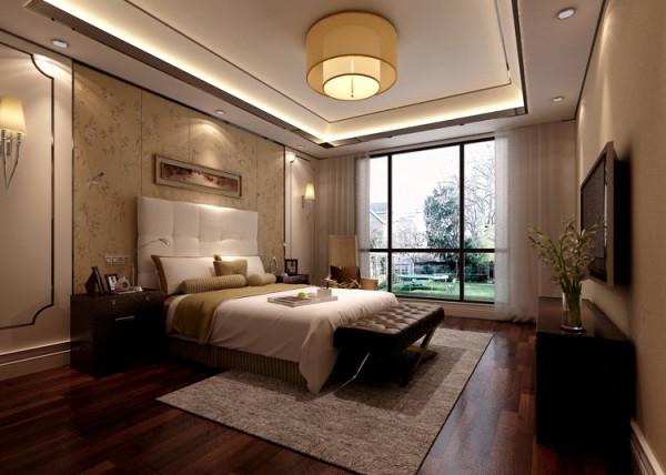 领秀翡翠山201平米户型卧室效果图展示