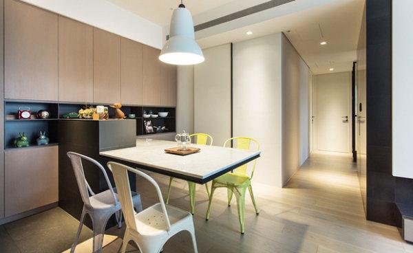 现代简约 新房装修 旧房改造 餐厅图片来自周海真在现代简约风格三居室质朴温馨居的分享