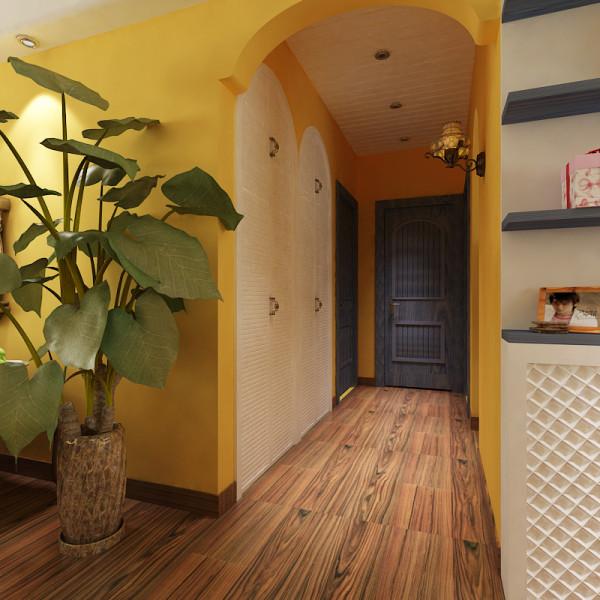 绿色的盆栽是地中海不可或缺的一大元素,一些小巧可爱的盆栽让家里显得绿意盎然,就像在户外一般,在一些角落里,我们也可以安放一两盆吊篮,或者是爬藤类的植物,他能够制造一大片的绿意,