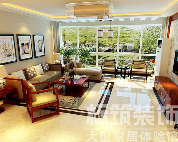 中式 标筑 成都装修 三居 客厅 卧室 厨房 客厅图片来自四川标筑装饰公司在标筑装饰-中式风格的分享