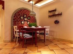 今朝装饰 玫瑰湾 地中海 三居 温馨 餐厅图片来自石家庄今朝生态家居馆在玫瑰湾110平地中海风格!的分享