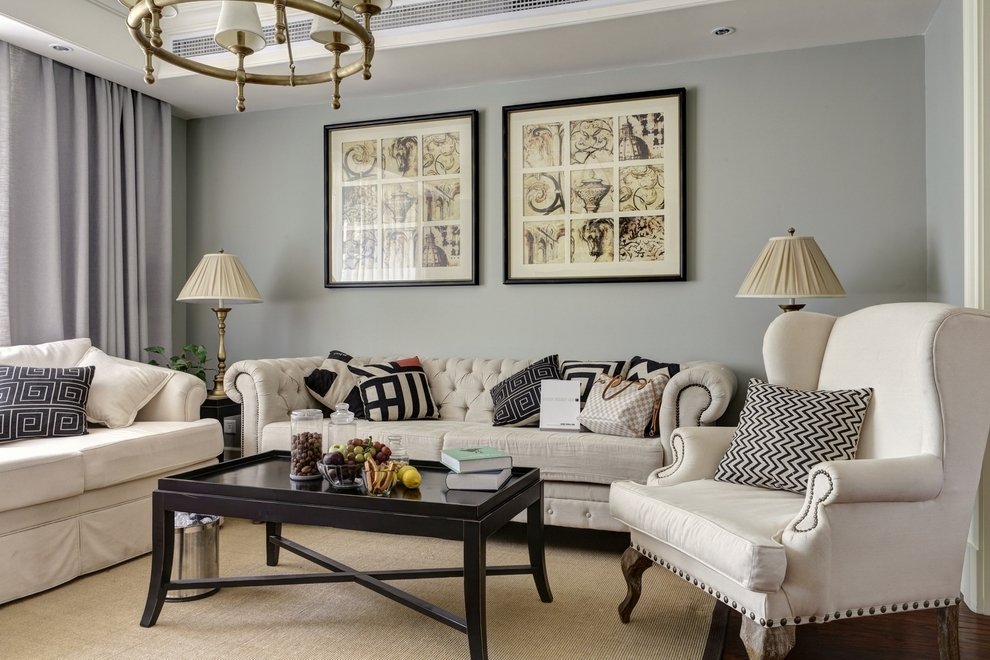 简约 混搭 客厅图片来自紫禁尚品设计师李擎在正源尚峰尚水的分享