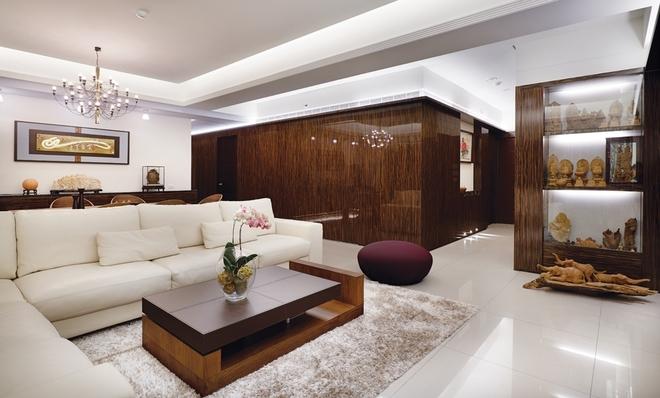 新古典风格 三居 杨浦区装修 客厅图片来自实创装饰上海公司在135平时尚新古典主义优雅公寓的分享