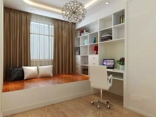 阅 书房用通顶书柜和地板床将空间利用到极致,形成一个独立的阅读空间。打开窗户,阳光与咖啡同在,书籍与音乐共鸣,或躺或坐,闲适自由。