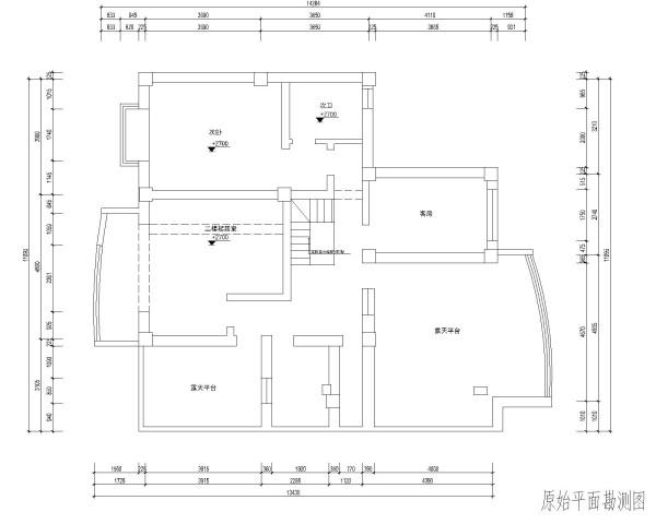 二楼原始布局图