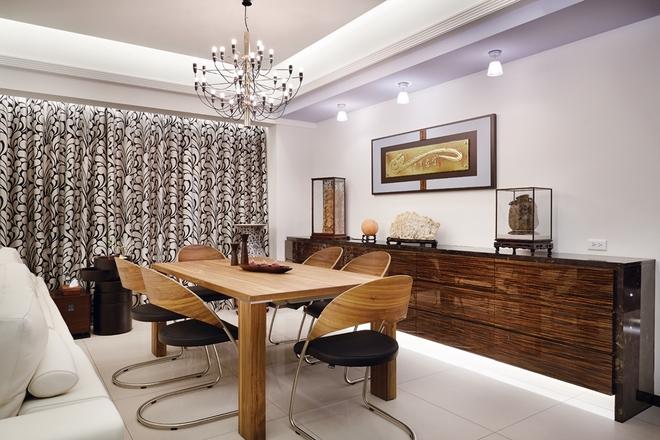 新古典风格 三居 杨浦区装修 餐厅图片来自实创装饰上海公司在135平时尚新古典主义优雅公寓的分享