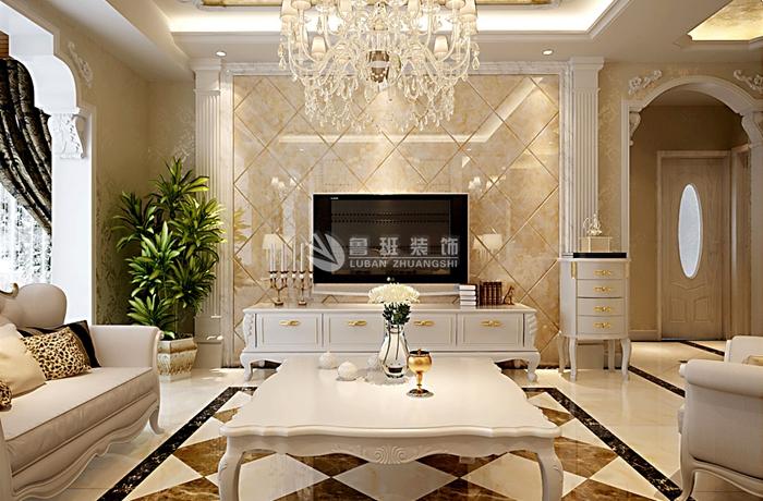 西安鲁班 鲁班电话 鲁班地址 西安装修 客厅图片来自西安鲁班装饰设计在曲江观邸150平米欧式风格的分享