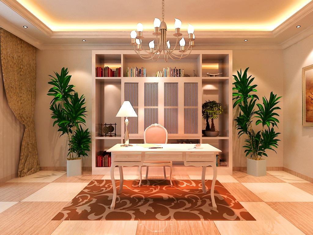简欧风格 欧式风格 天地凤凰城 别墅装修 书房图片来自别墅装修设计--Hy在简欧风格--天地凤凰城的分享