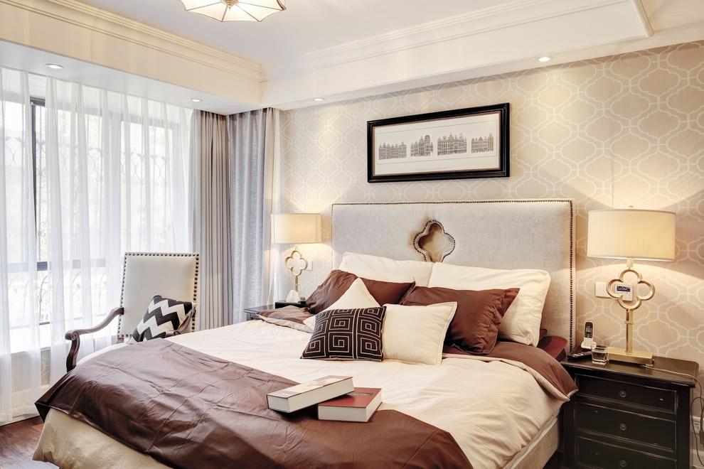 简约 混搭 卧室图片来自紫禁尚品设计师李擎在正源尚峰尚水的分享