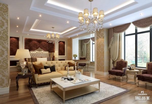 大床房 业主强烈要求,体现家的温馨,与舒适。 合理安排配置及软装配套营造端庄与完美!