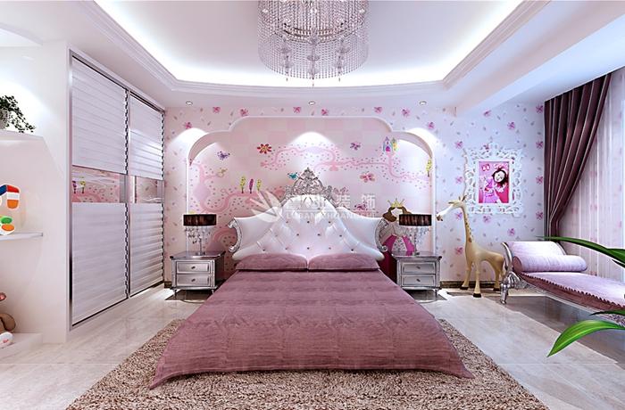 西安鲁班 鲁班电话 鲁班地址 西安装修 卧室图片来自西安鲁班装饰设计在曲江观邸150平米欧式风格的分享
