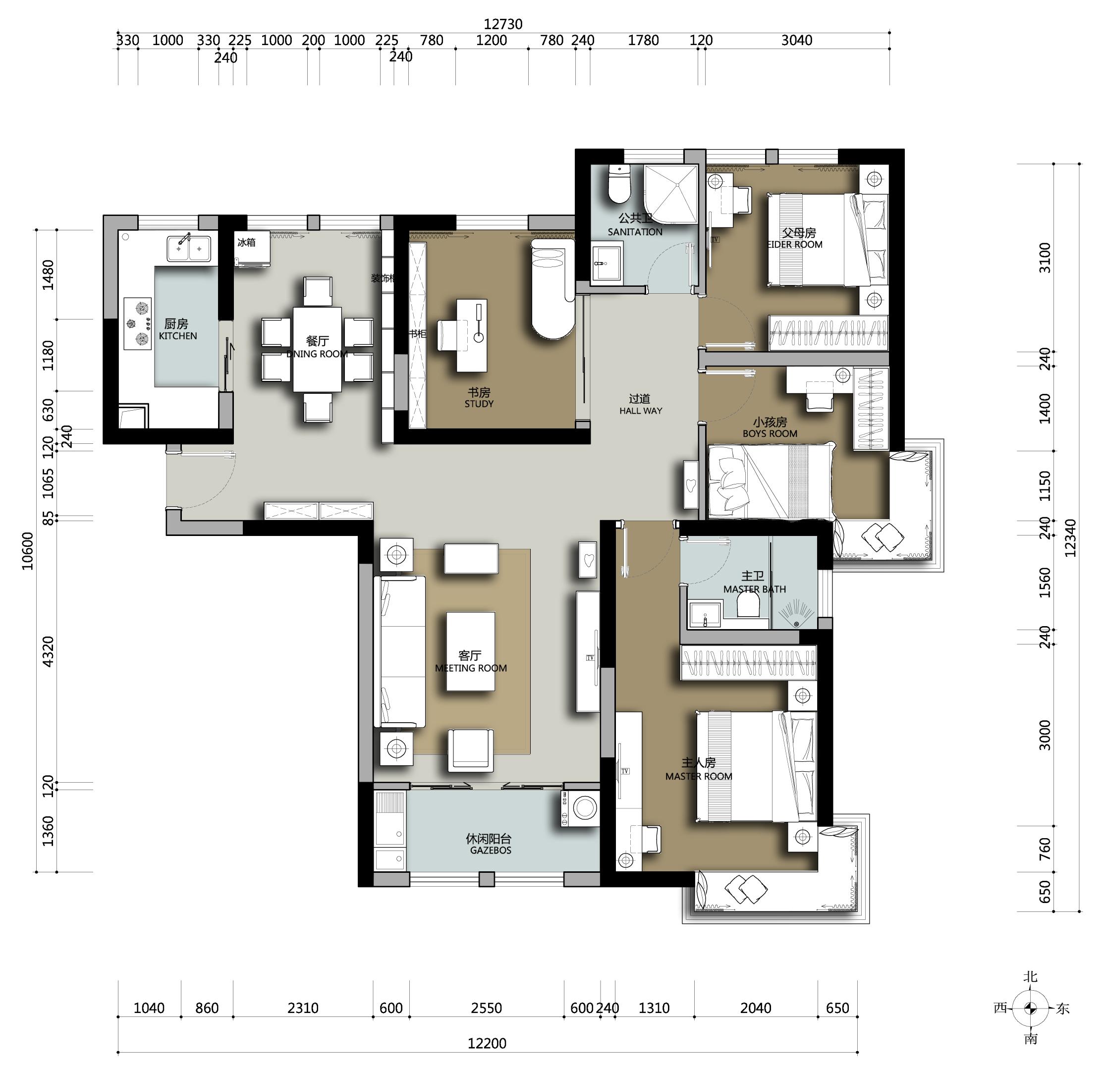 简约 别墅 现代 户型图图片来自申伯装饰在安徽六安市徐先生家装设计的分享