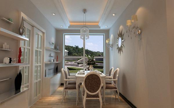设计理念:客厅空间中营造出通透豁亮的环境氛围不仅在设计的时候沿袭了古典欧式文化的主要元素,更多融入了现代生活的气息,虽然看起来并不是那么豪华,但是多出的确是惬意和浪漫的格调