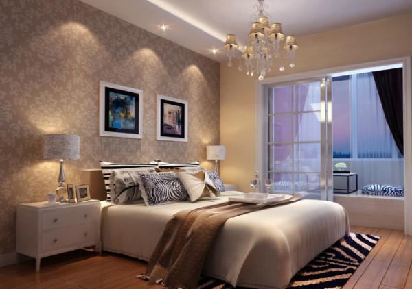 名流印象 133平现代简欧卧室装修效果图