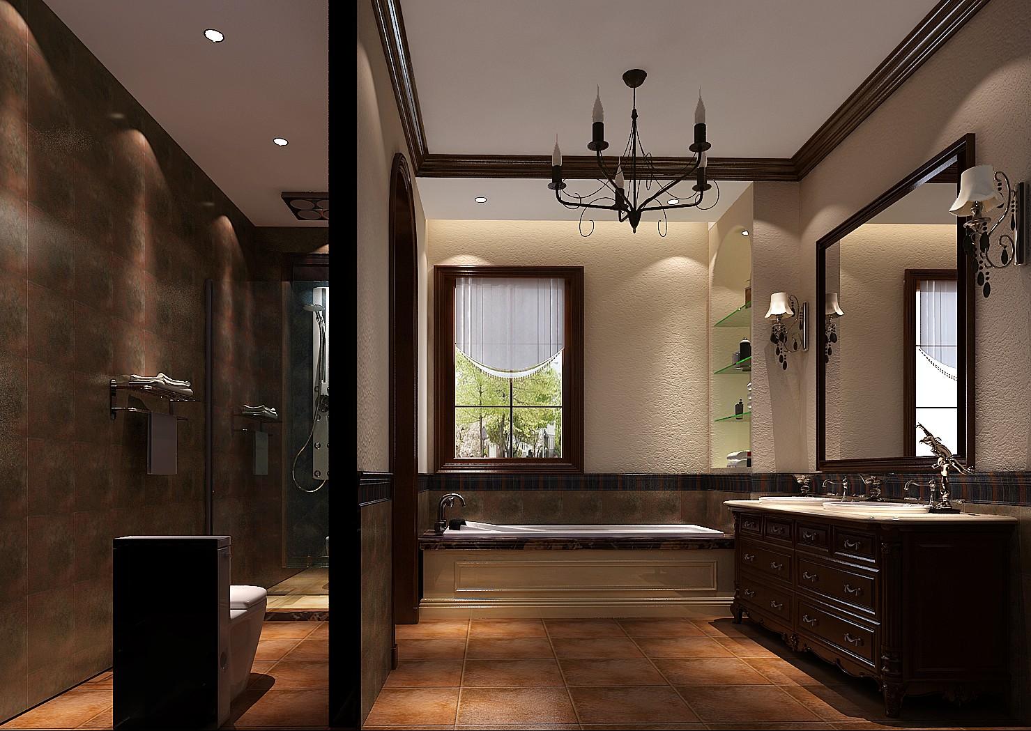 托斯卡纳 别墅 卫生间图片来自凌军在龙湖香醍漫步托斯卡纳风格的分享