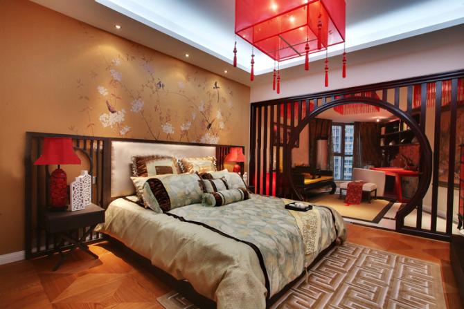 卧室图片来自北京今朝装饰在时尚中国风--新中国时尚的分享