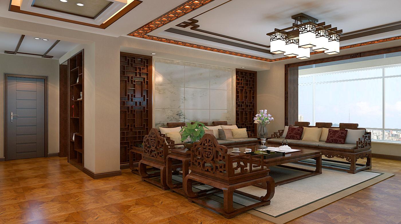 中式 简约 三居 白领 80后 小资 收纳 客厅图片来自百家装饰-小敬在中铁梧桐苑的分享