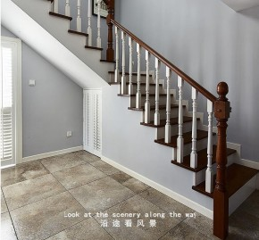 简约 北欧 楼梯图片来自佰辰生活装饰在220方北欧风格自建房的分享