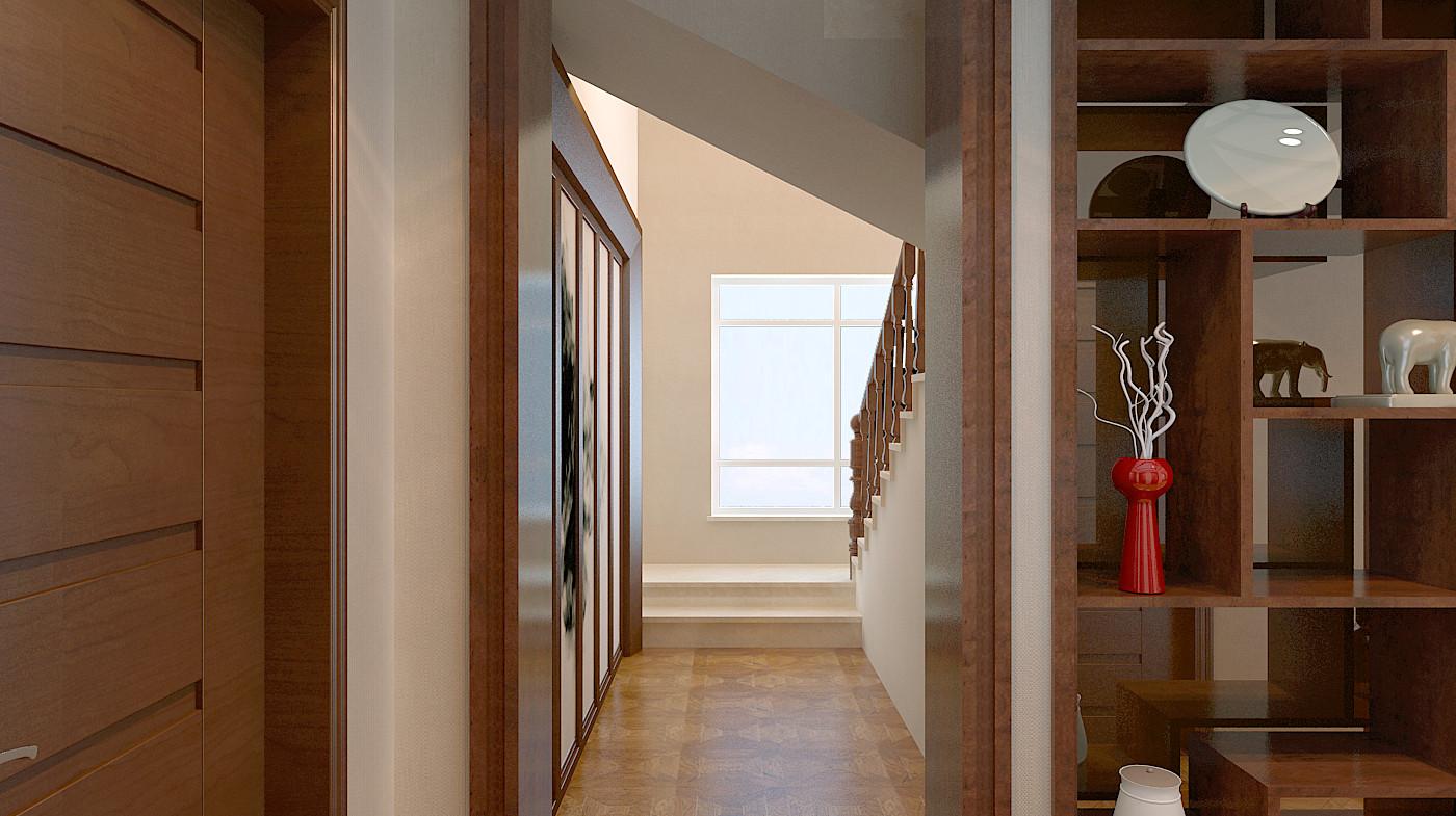 中式 简约 三居 白领 80后 小资 收纳 楼梯图片来自百家装饰-小敬在中铁梧桐苑的分享