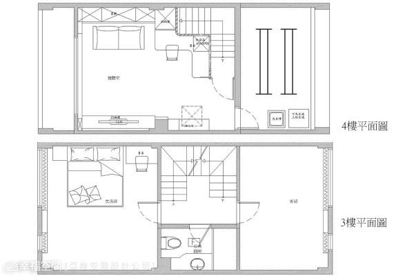 3-4楼平面图