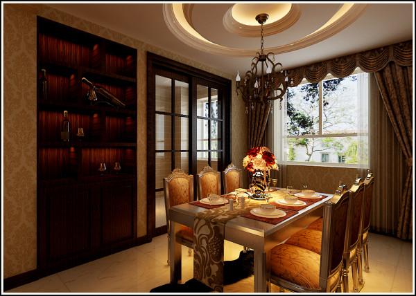 本方案144平三居室为典型的欧式风格,以华丽的装饰、浓烈的色彩、精美的造型达到华贵的装饰效果,背景墙决定了整个客厅的档次。