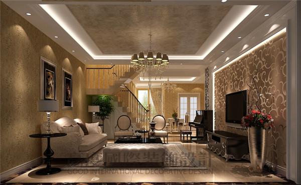 龙城一号怎么装修顶跃200平米怎么装修—简欧风格 客厅