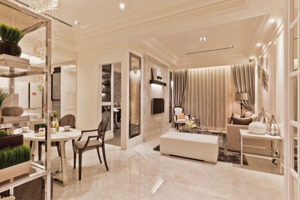 蓝光soft社区 45平米现代欧式 一室
