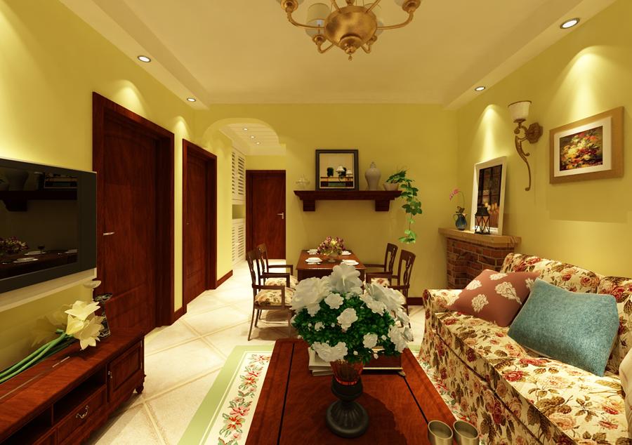 田园 客厅图片来自百家装饰杨乐乐在益格风情湾62的分享