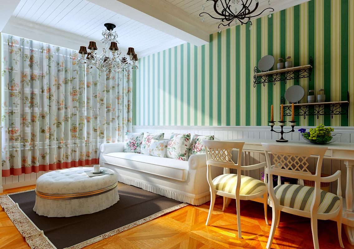 复式、半包 客厅图片来自百家装饰杨乐乐在泰荣湾的分享