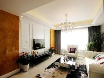 优美凹凸感的简欧家庭装修设计