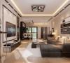 华润欢乐颂120平现代简约三居室
