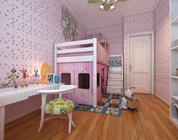 设计理念:在家具方面特别喜欢红苹果;宜家的感觉。得知男女主人喜欢女孩,且需要一间温馨儿童房,