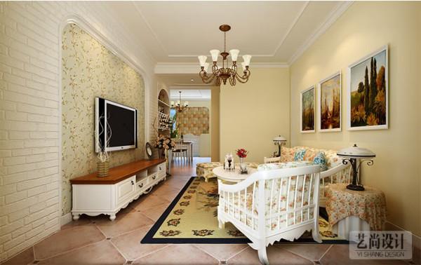 银河丹堤三室两厅120平方——客厅装修效果图