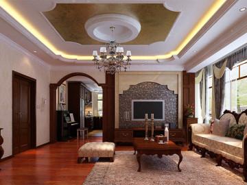 公园一品163平欧式风格三居室