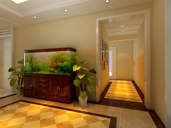 华馨公寓(140平)三居室户型门厅效果图展示