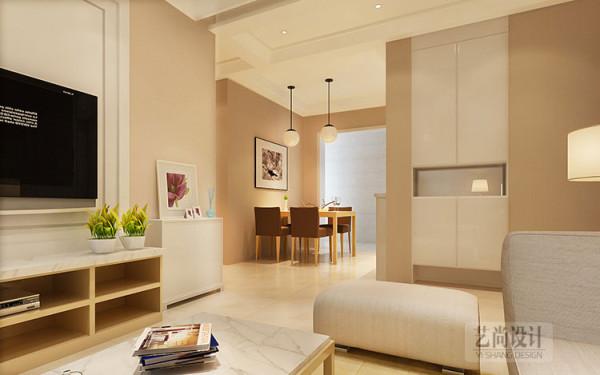 郑州锦艺国际华都三期89平方两室,走道设计案例效果图。