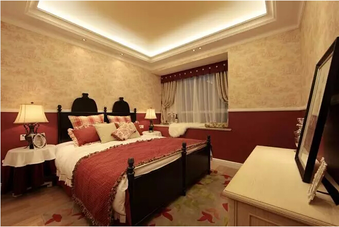 美式田园风 四居 兰湖美域 卧室图片来自实创装饰上海公司在美式田园回归自然的分享
