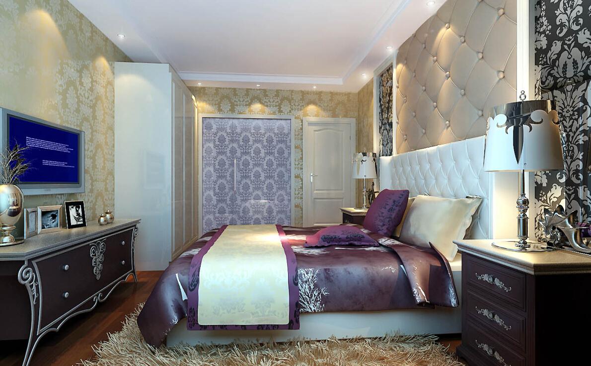 混搭 别墅 收纳 80后 小资 低调奢华 舒适 五居室 卧室图片来自轻舟装饰家居顾问在送给低调奢华品位生活的人的分享