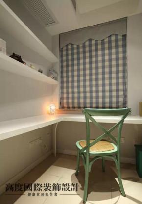 美式 现代 地中海 田园 二居 白领 收纳 小资 样板间 书房图片来自高度国际装饰宋增会在77平两室美式清新混搭小屋。。。的分享