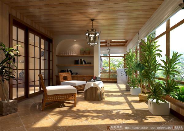 中德英伦联邦阳光房细节效果图-成都高度国际装饰