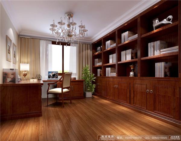 中德英伦联邦书房细节效果图-成都高度国际装饰