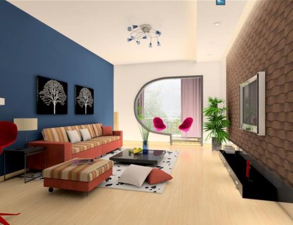 此案例客厅与餐厅之间相互独立又相互连通,步入室内,雅致的家具、柔和的色彩到处都是现代风格的经典体现。在客厅与阳台间用了个性化造型,创造出独特的时尚美学。