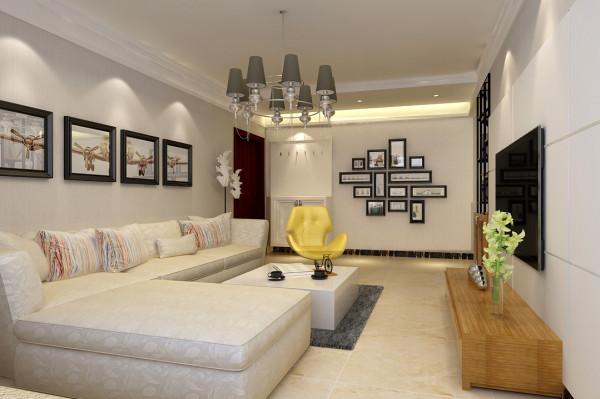 客厅整体布局设计效果