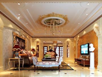 天湖丽都金碧辉煌的欧式豪宅