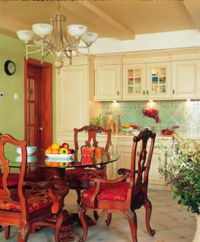 田园 温馨 二居 餐厅图片来自第壹家园装饰在94平温馨田园的分享